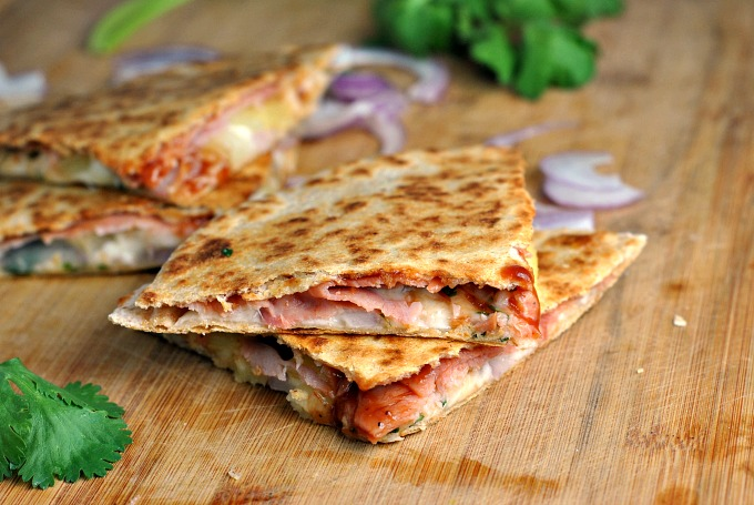 Hawaiian Pizza Quesadillas 4