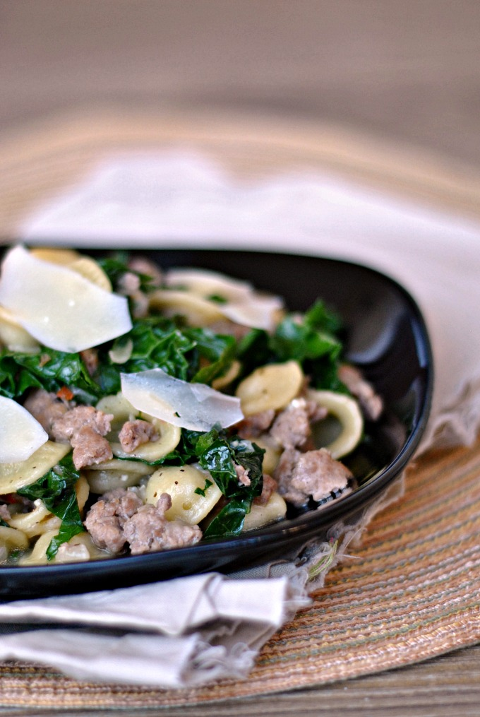 One Pan Orecchiette with Sausage and Kale 1