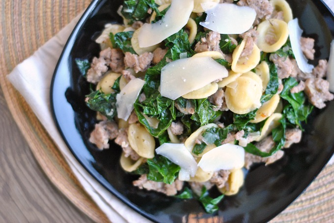 One Pan Orecchiette with Sausage and Kale 3