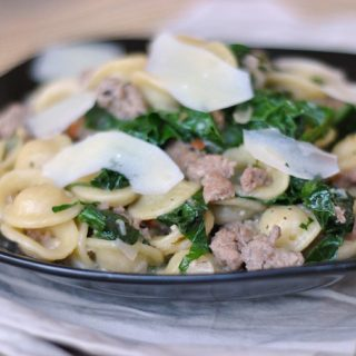 One Pan Orecchiette with Sausage and Kale + Weekly Menu
