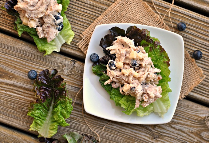 Blueberry Chicken Salad Lettuce Cups 2