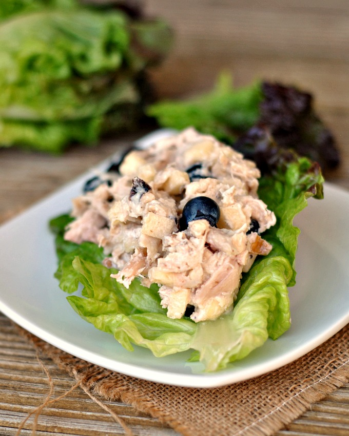 Blueberry Chicken Salad Lettuce Cups 4