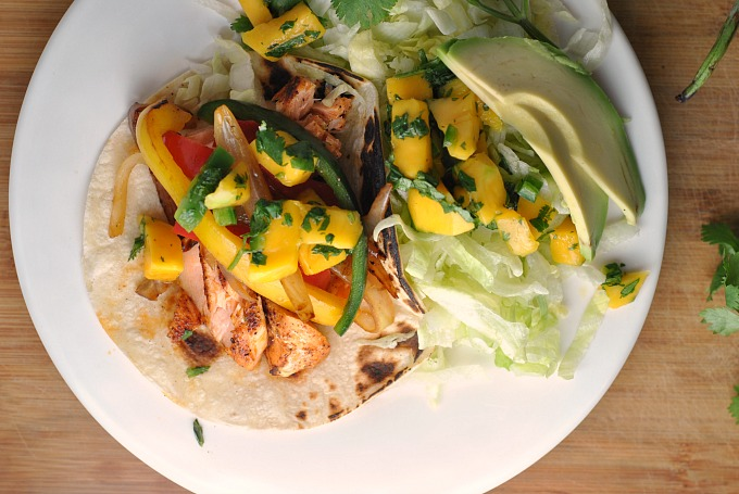 Salmon Fajitas with Mango Salsa 3