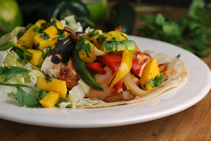Salmon Fajitas with Mango Salsa 4