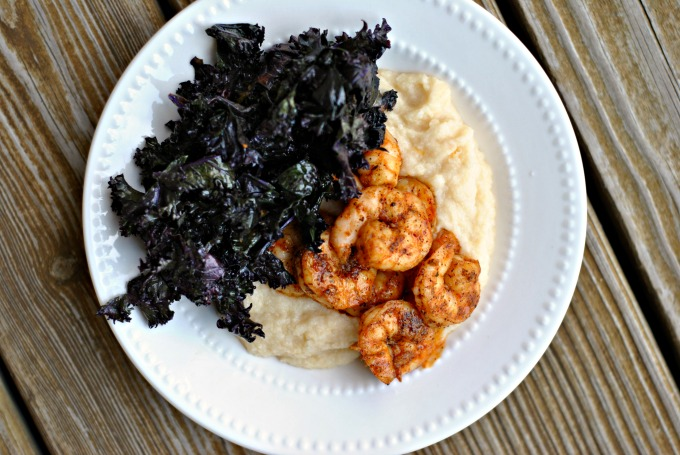Spicy Shrimp with Cauliflower Mash and Kale 3
