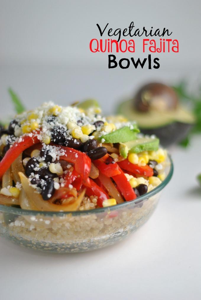 Vegetarian Quinoa Fajita Bowls 1