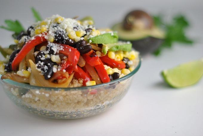 Vegetarian Quinoa Fajita Bowls 3