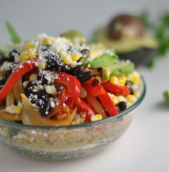 Vegetarian Quinoa Fajita Bowls 4