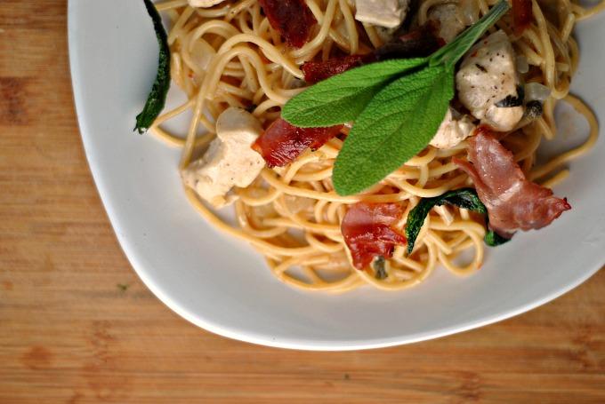 Skillet Chicken Saltimbocca Spaghetti 3