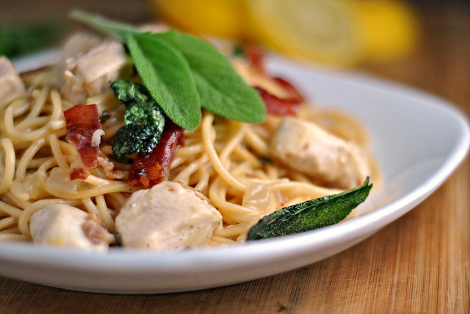 Skillet Chicken Saltimbocca Spaghetti 4