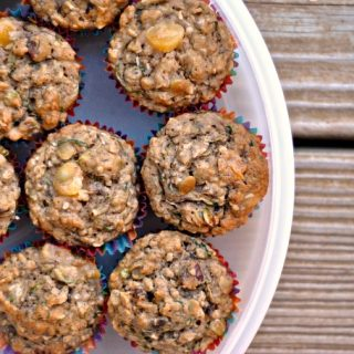 Banana-Zucchini Muffins (…with everything but the kitchen sink!)