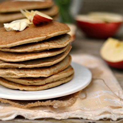 Gluten-Free Oatmeal Apple Blender Pancakes