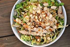 Grilled Ginger-Sesame Chicken Chopped Salad + Weekly Menu