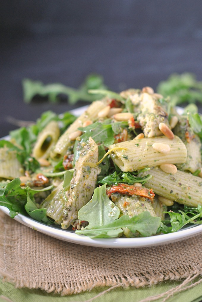 Grilled Pesto Chicken Pasta Salad with Sun-Dried Tomatoes ...