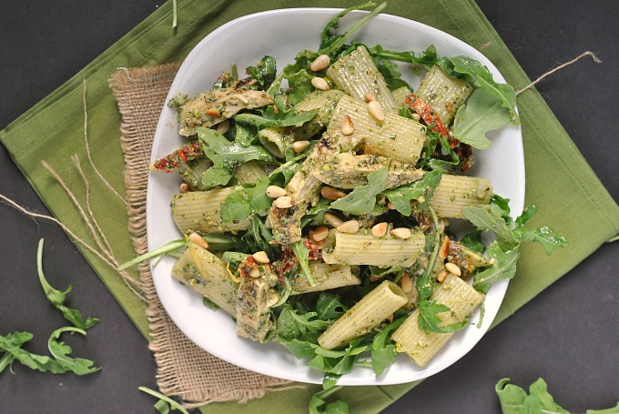 Grilled Pesto Chicken Pasta Salad 2