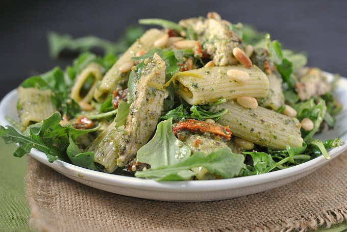 Grilled Pesto Chicken Pasta Salad 3