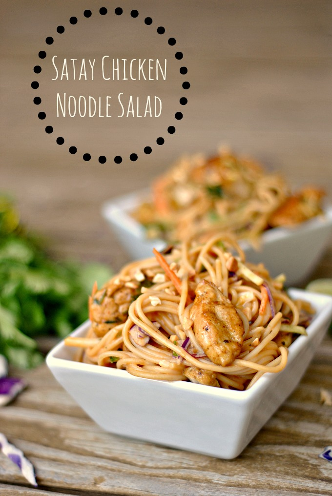 Satay Chicken Noodle Salad 1