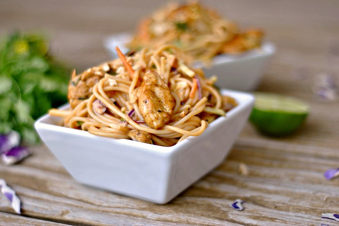 Satay Chicken Noodle Salad 3