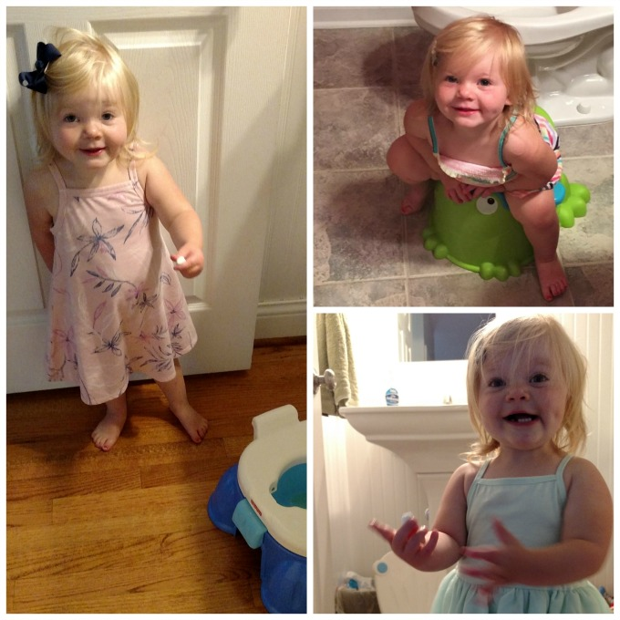 potty training collage
