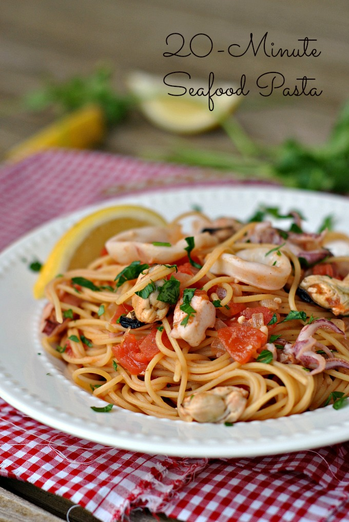 20-Minute Seafood Pasta 1