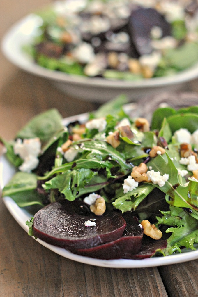 Beet and Goat Cheese Salad 1