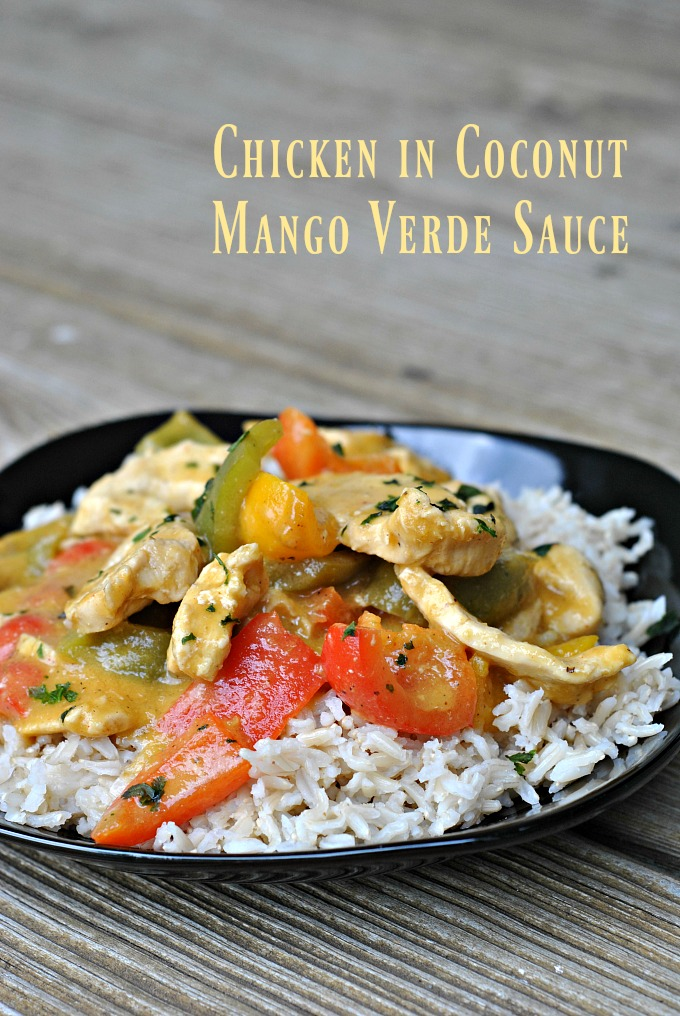Chicken in Coconut Mango Verde Sauce 1