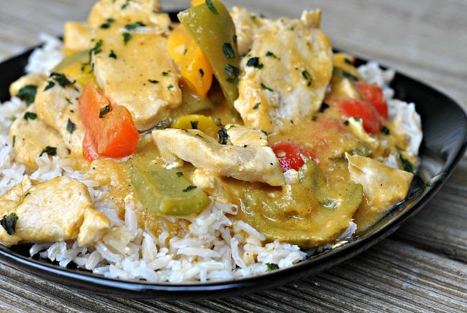 Chicken in Coconut Mango Verde Sauce 2