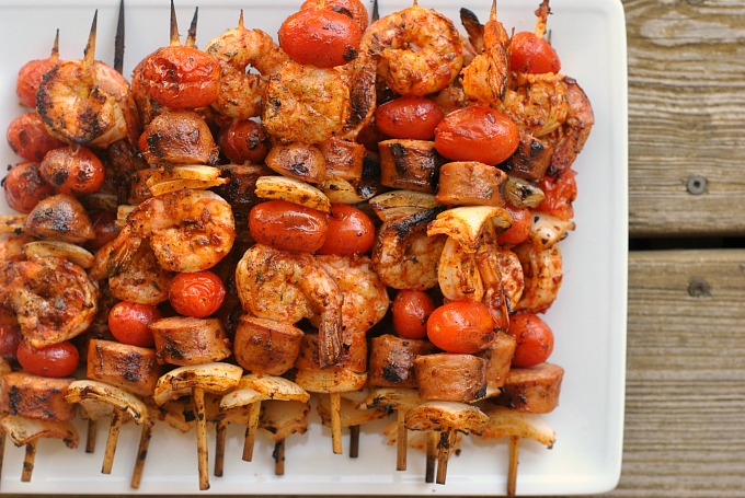 Grilled Shrimp and Sausage Skewers with Smoky Paprika Glaze 2