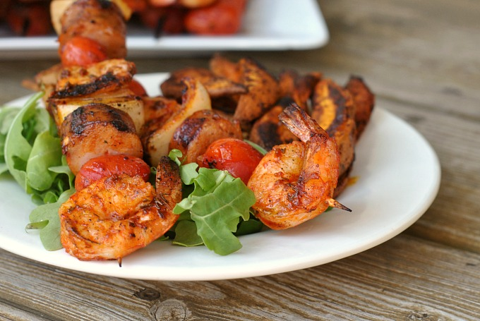 Grilled Shrimp and Sausage Skewers with Smoky Paprika Glaze 3