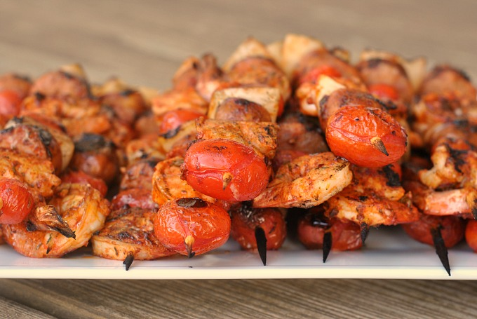 Grilled Shrimp and Sausage Skewers with Smoky Paprika ...