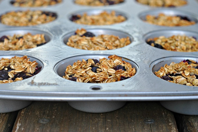 Baked Blueberry Oatmeal Cups 2