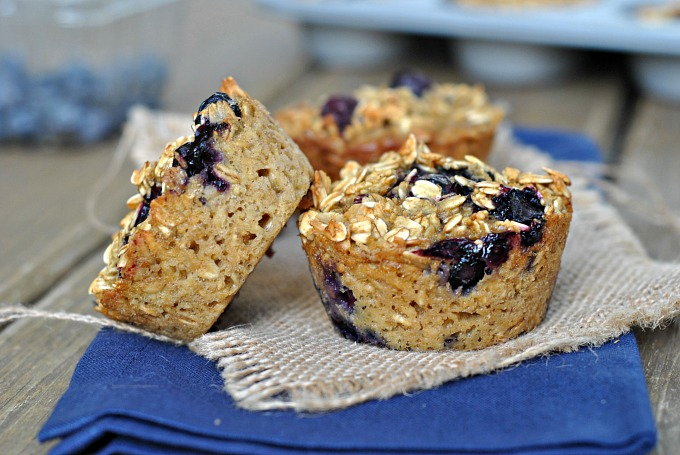Baked Blueberry Oatmeal Cups 4