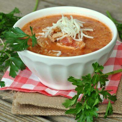 Slow Cooker Quinoa Chicken Parmesan Soup + Weekly Menu