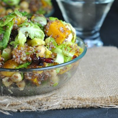 Warm Quinoa Brussels Sprouts Salad