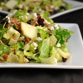 Cranberry Bacon Bleu Salad + Weekly Menu
