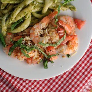Bruschetta Baked Shrimp