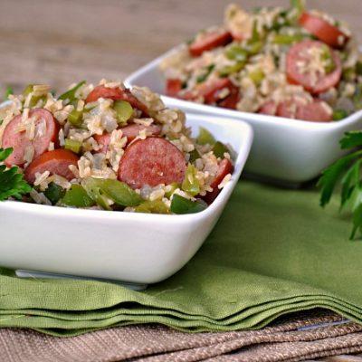 One Skillet Sausage and Rice + Weekly Menu