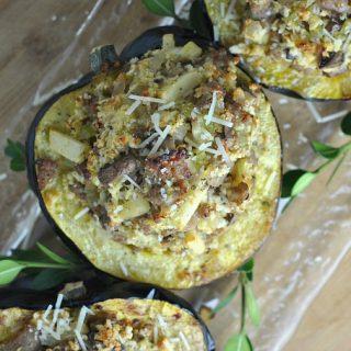 Recipe Repeat: Sausage and Apple-Stuffed Acorn Squash