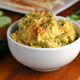 Cashew Curry Hummus + Weekly Menu