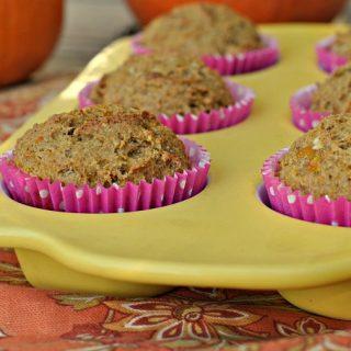 Whole Grain Pumpkin Spice Butternut Squash Muffins