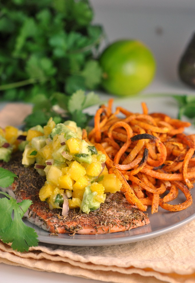 Jamaican Jerk Salmon With Fresh Mango Salsa Whole30 Weekly Menu
