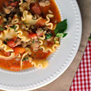 Recipe Repeat: Lasagna Soup + Weekly Menu
