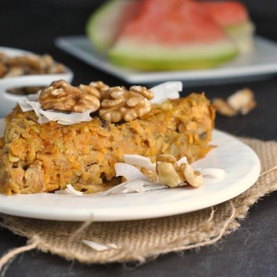 Sweet Potato and Apple Breakfast Bake + Weekly Menu