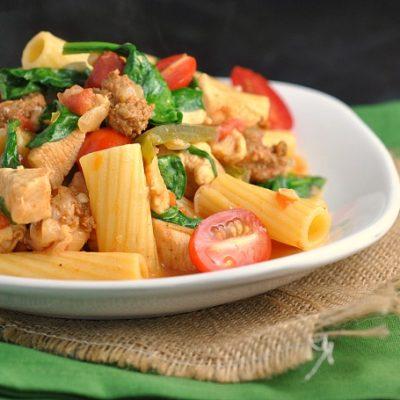Cajun Chicken Pasta + Weekly Menu