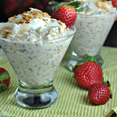 Coconut Cream Overnight Oats + Weekly Menu