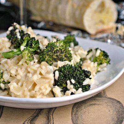 Roasted Broccoli Parmesan Risotto + Weekly Menu
