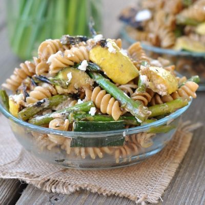 Grilled Vegetable, Balsamic, and Goat Cheese Pasta