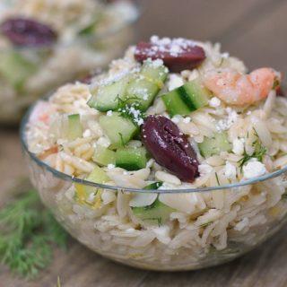 Orzo Salad With Shrimp and Feta + Weekly Menu