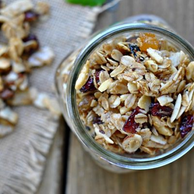 {Recipe Repeat} Sweet & Salty Olive Oil Granola Clusters + Weekly Menu