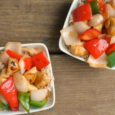 {Healthier} Sweet and Sour Chicken + Weekly Menu